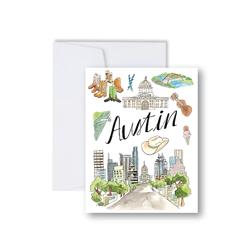 Austin Icons - Note Cards