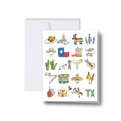 Misc. Texas Icons Note Card