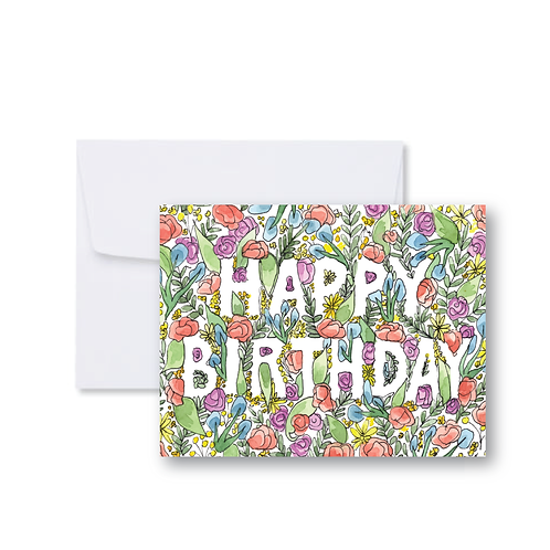 Full Floral Birthday Card
