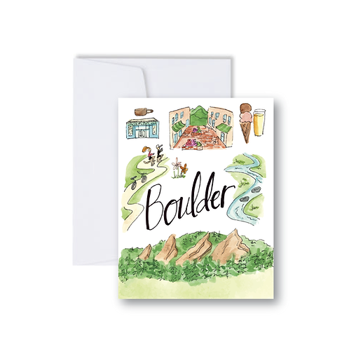 Boulder Icons Note Card
