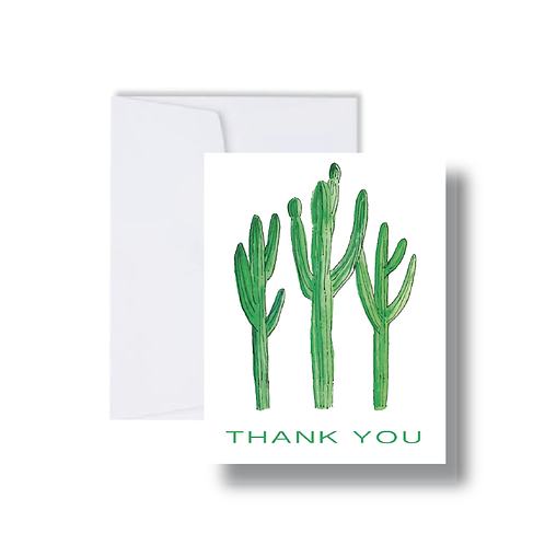 """Thank You"" Cactus - Note Cards"