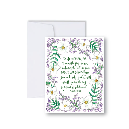 Isaiah 41:10 Purple Notecard