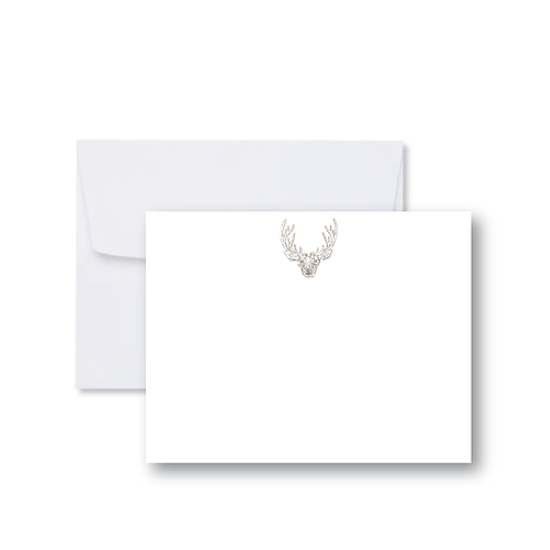 Deer Antlers FLAT Card Pack (8 Cards + Envelopes)