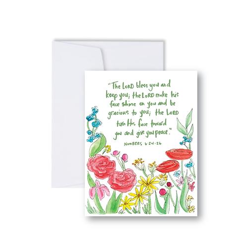 Numbers 6:24 Garden Notecard