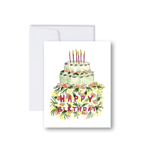 Birthday Cake Note Card