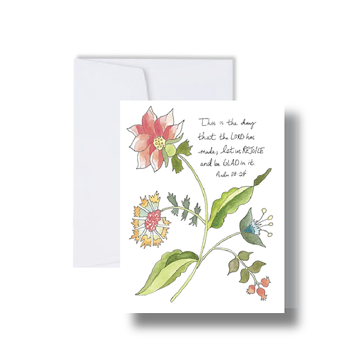 Psalms Verse with Florals - Note Cards