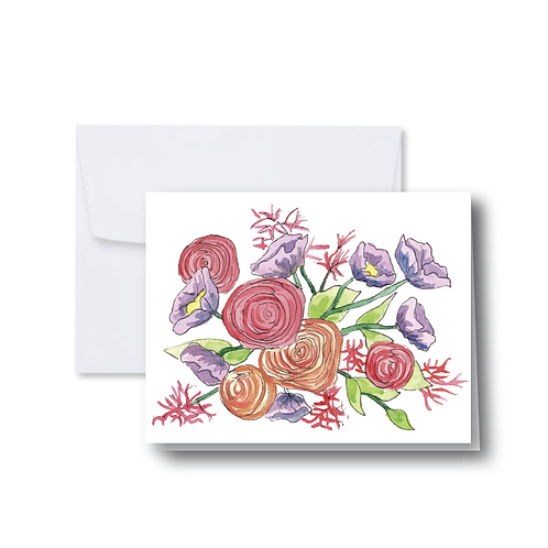 Candy Florals Note Card