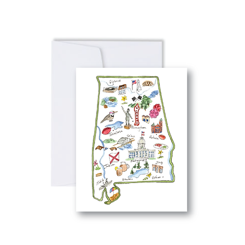Alabama Icons Note Card