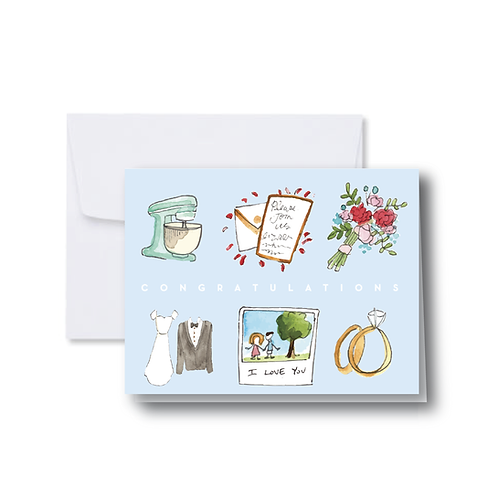 Newly Married Icons Note Card