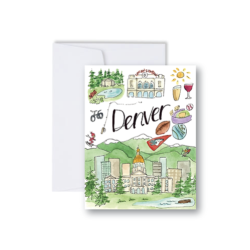 Denver Icons Note Card