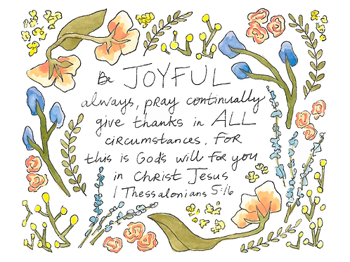 1 Thessalonians 5:16 Print