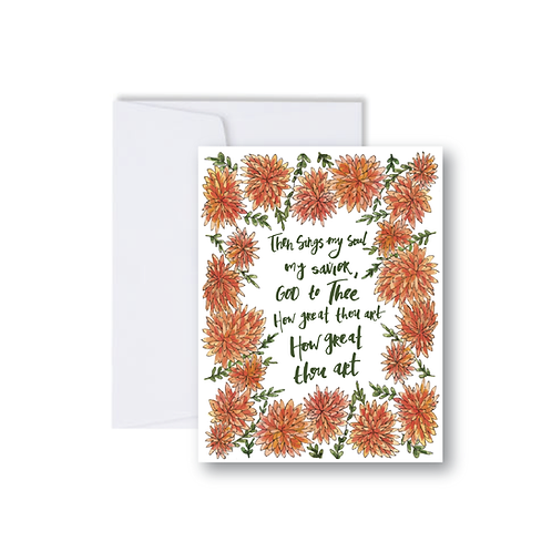 How Great Thou Art Note Card