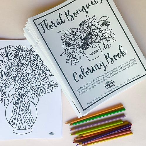Floral Bouquet Coloring Book