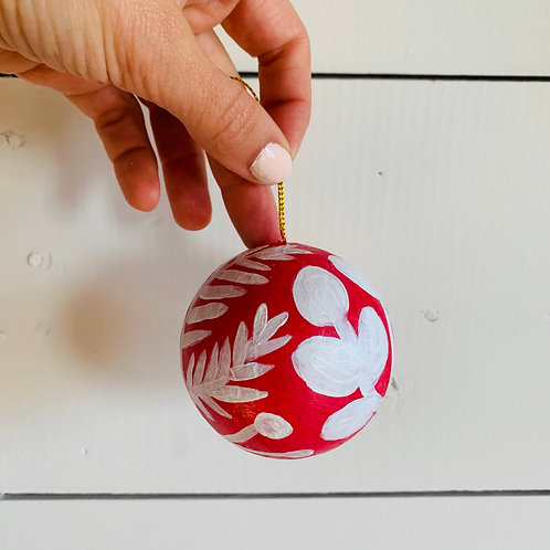 Red & White Ornament (#6)