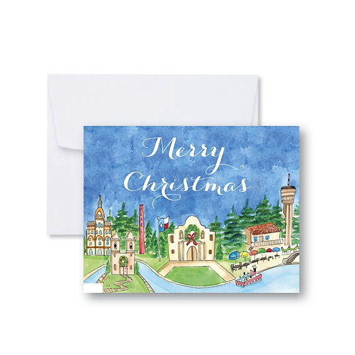 SA Merry Christmas Note Card