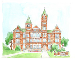 Samford Hall Auburn Building Architecture