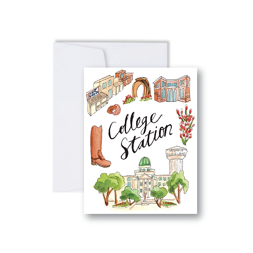 College Station Icons - Note Cards