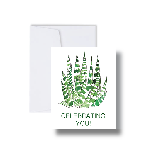 """Celebrating You"" Cactus - Note Cards"