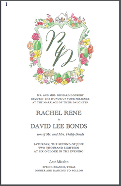 Dockery Wedding Invitation