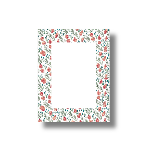 Flower and Vine Pattern - Note Pad