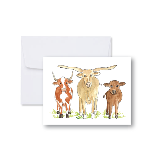 Three Cows Note Card