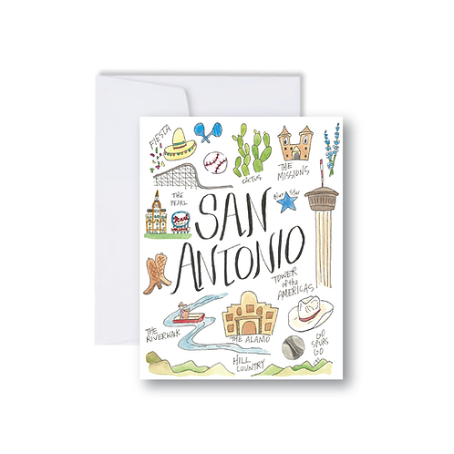San Antonio Icons - Note Cards