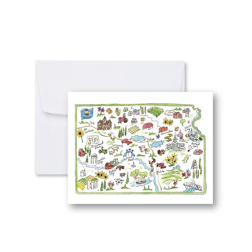 Kansas Icons Note Card