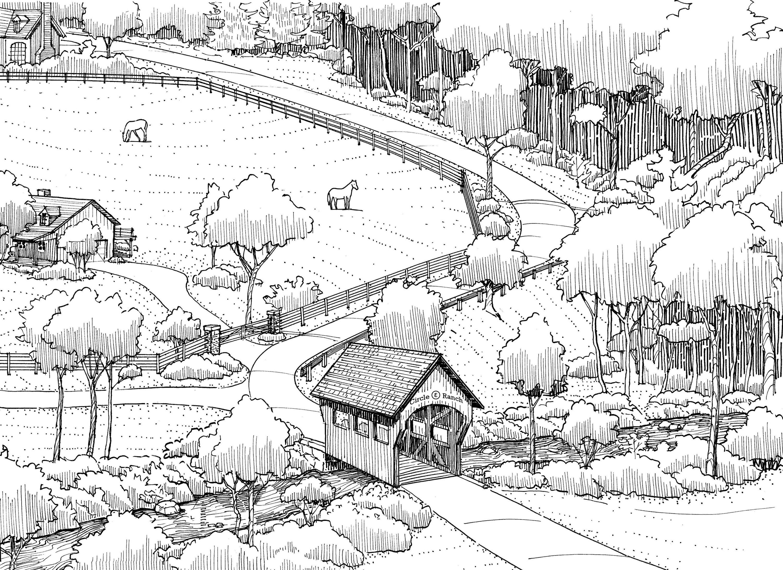 Circle E Ranch Entry Sketch