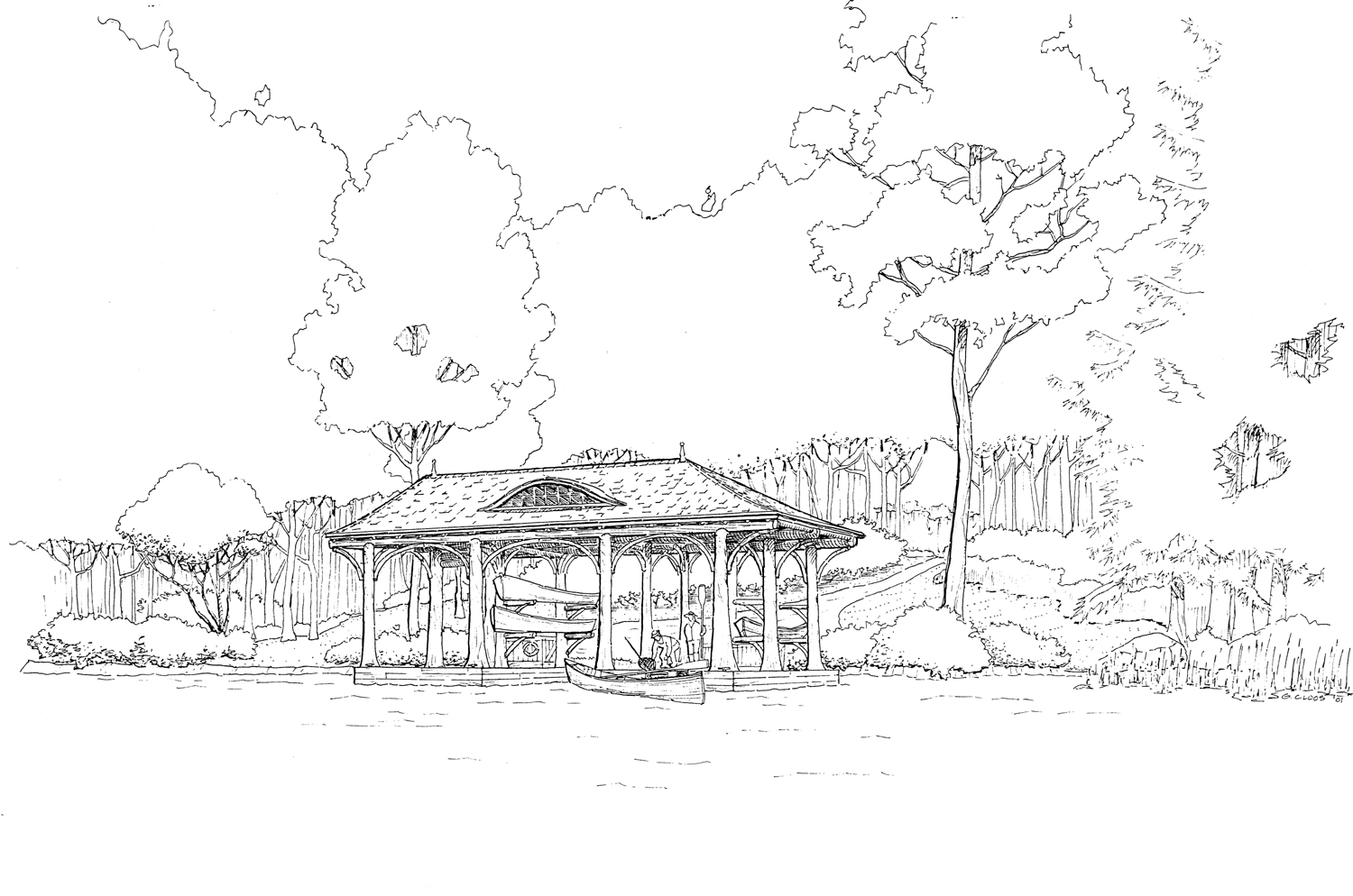 Boathouse Sketch