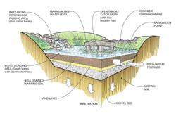 Bio-Retention Area Perspective