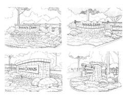 Berwick Downs Signage Studies