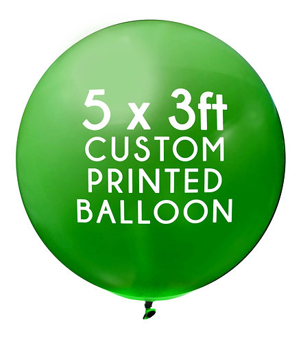 5 x 3ft Balloon, 1 colour, 1 side