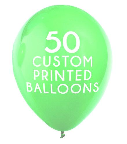 50 Custom Printed Balloons