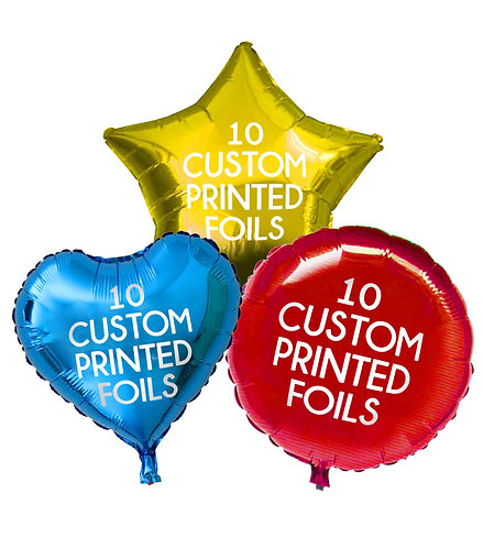 10 Custom Printed Foils
