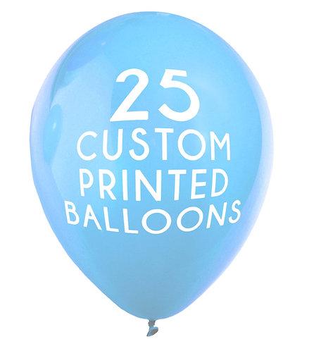 "25 Custom Printed Balloons 16"""