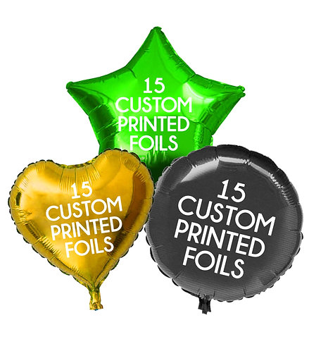 15 Custom Printed Foils