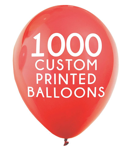 1000 Custom Printed Balloons