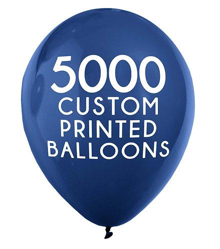 5000 Custom Printed Balloons