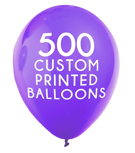 500 Custom Printed Balloons