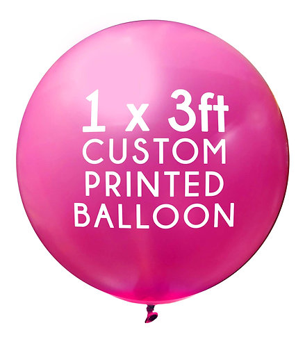 1 x 3ft Balloon, 1 colour, 1 side