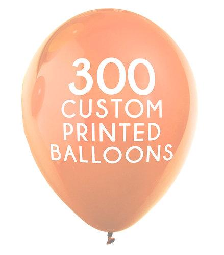 300 Custom Printed Balloons