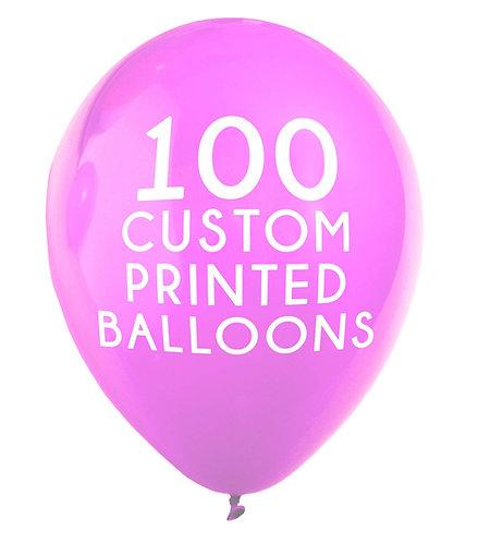 "100 Custom Printed Balloons 16"""