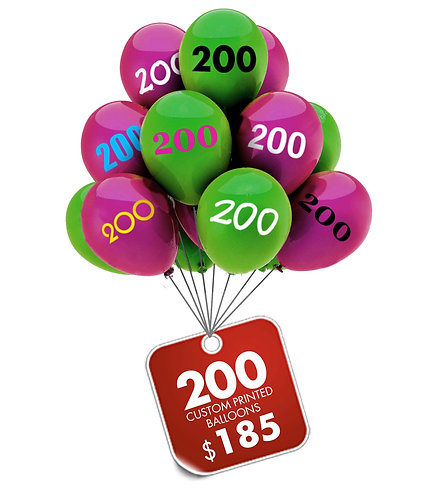 200 Balloons 100 Cups Sticks