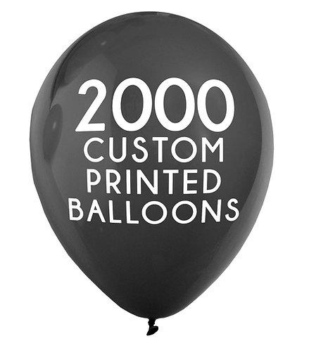 2000 Custom Printed Balloons
