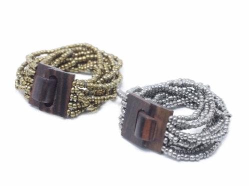 Multi-Bead Bangle Wooden