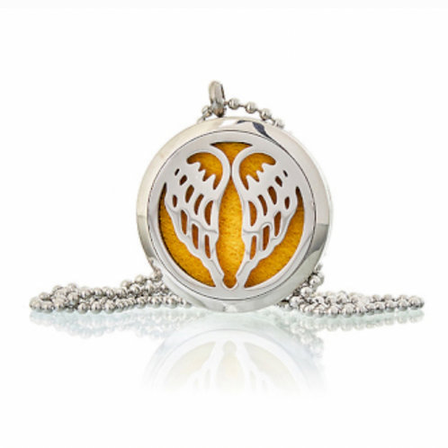 Aromatherapy Diffuser Neckless- Angel Wings 30mm