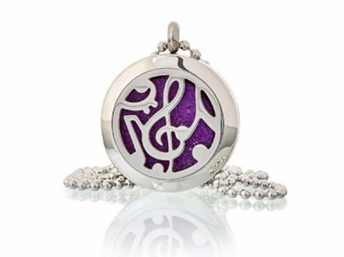 Aromatherapy Diffuser Neckless- Music Notes