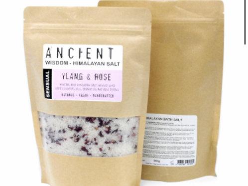 Himalayan Bath Salt 500g Sensual.Ylang and rose