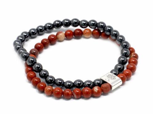 Magnetic Gemstone Bracelet- Redstone