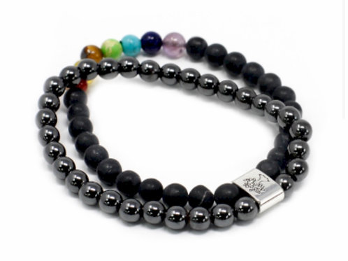 Magnetic Gemstone Bracelet- BlackStone Chakra